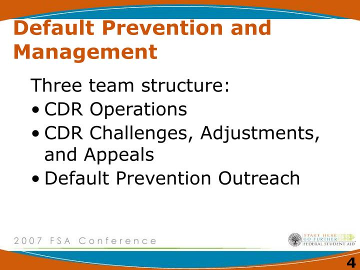 Default Prevention and Management