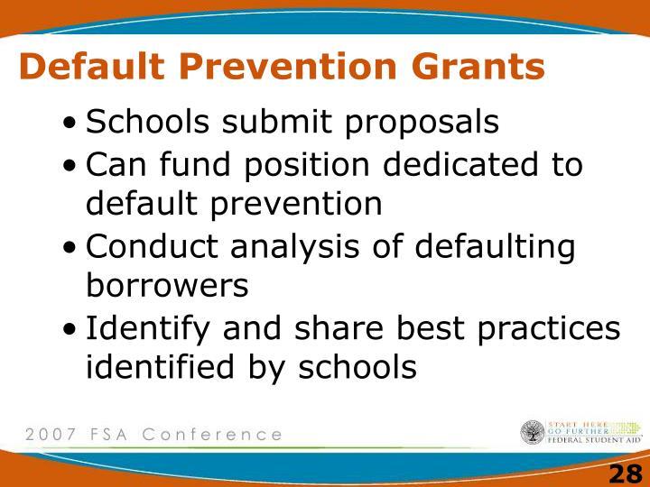 Default Prevention Grants