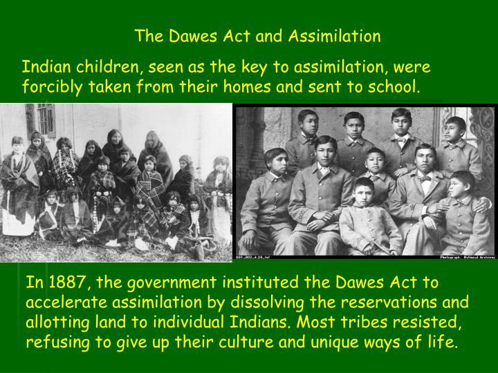 The Dawes Act and Assimilation