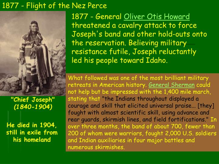 1877 - Flight of the Nez Perce