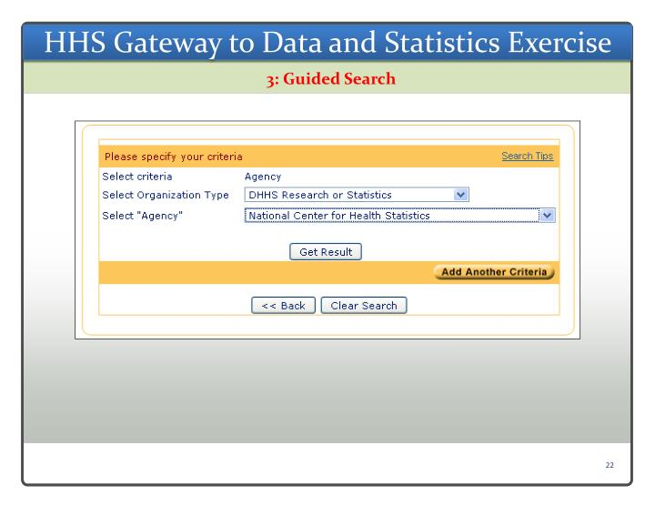 HHS Gateway to Data and Statistics Exercise