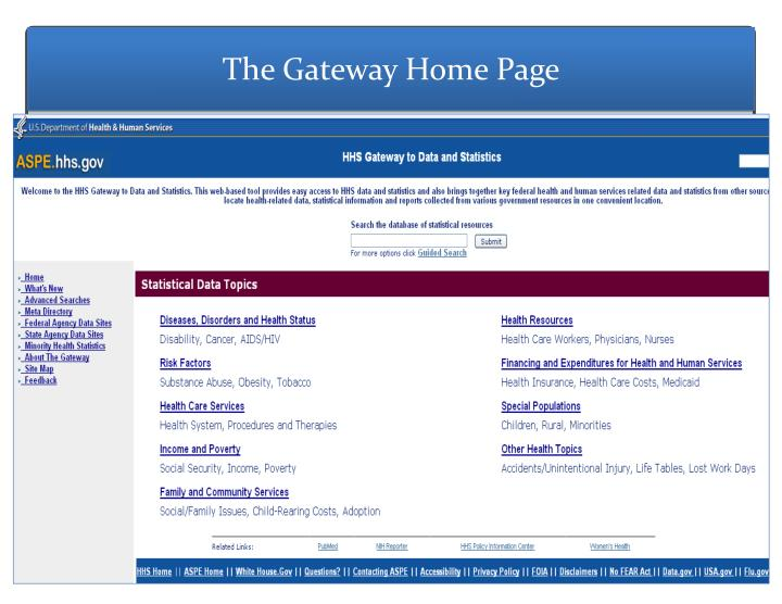 The Gateway Home Page
