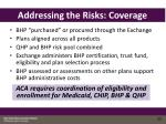 addressing the risks coverage