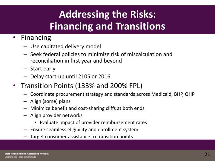 Addressing the Risks: