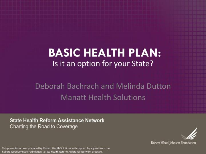 basic health plan