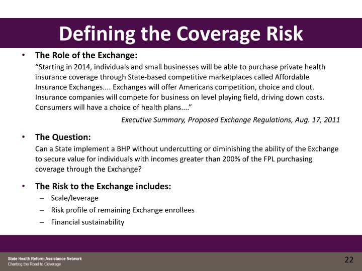 Defining the Coverage Risk