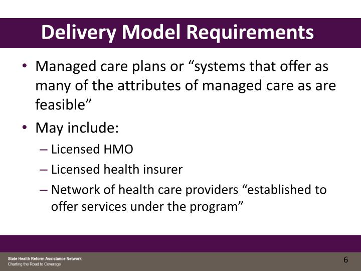 Delivery Model Requirements