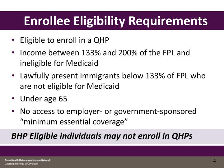 Enrollee Eligibility Requirements