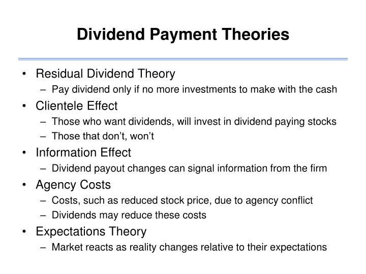Dividend Payment Theories