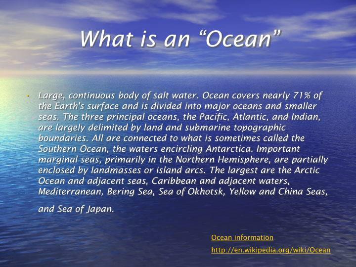"What is an ""Ocean"""