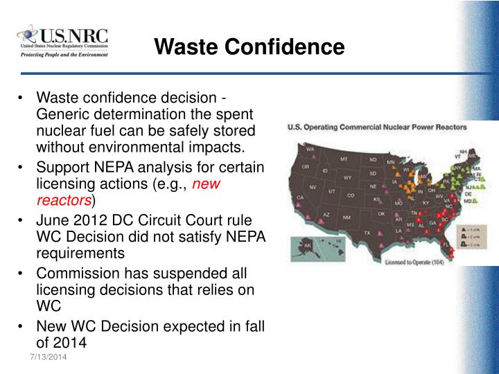 Waste Confidence