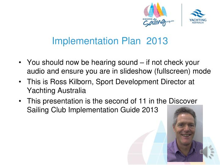 Implementation plan 2013