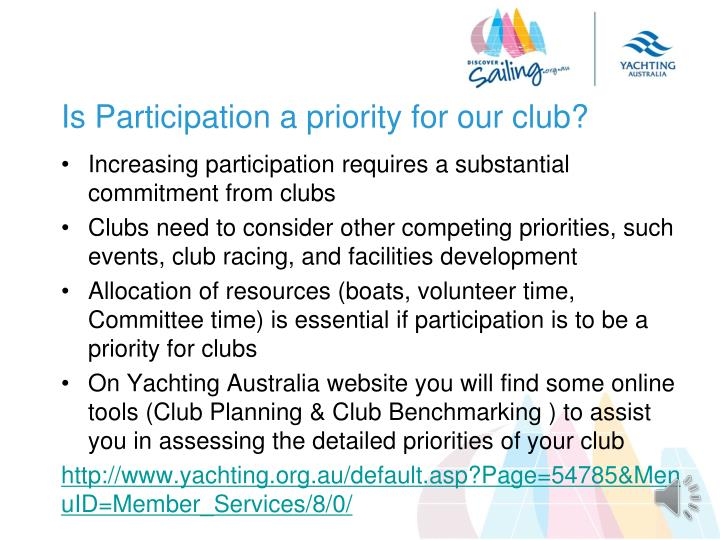 Is Participation a priority for our club?