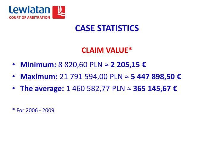 CASE STATISTICS