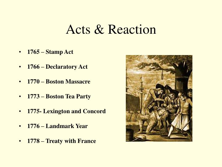 Acts & Reaction