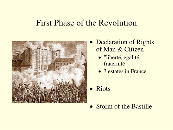 First Phase of the Revolution