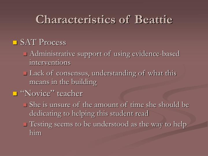 Characteristics of beattie