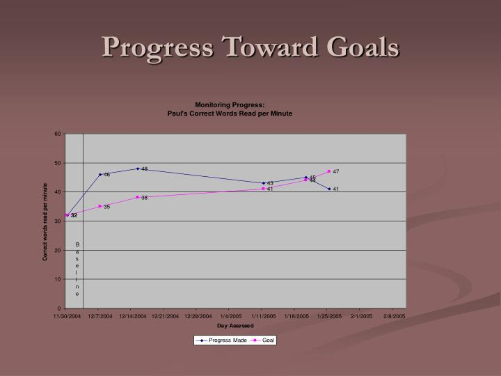 Progress Toward Goals