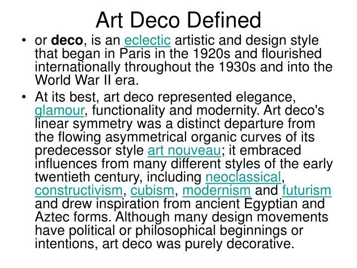 Art Deco Defined