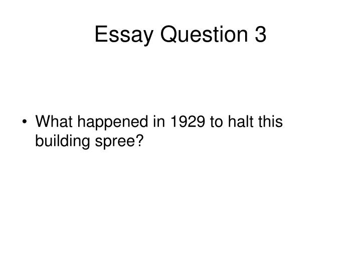 Essay Question 3