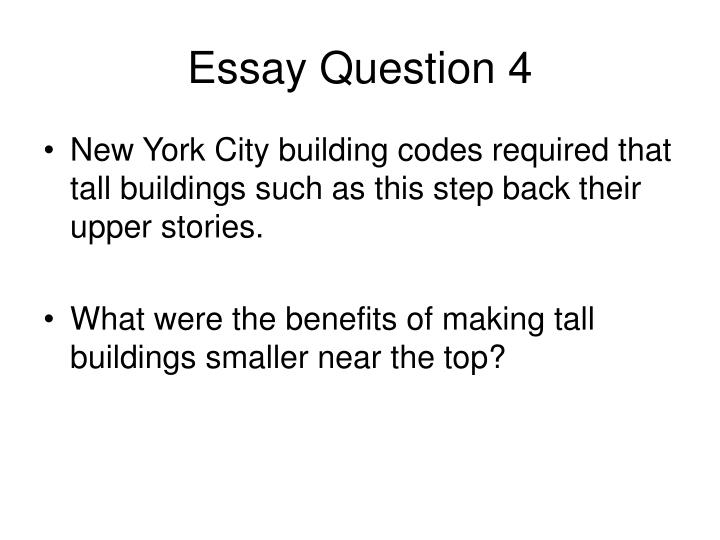 Essay Question 4