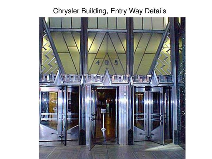 Chrysler Building, Entry Way Details