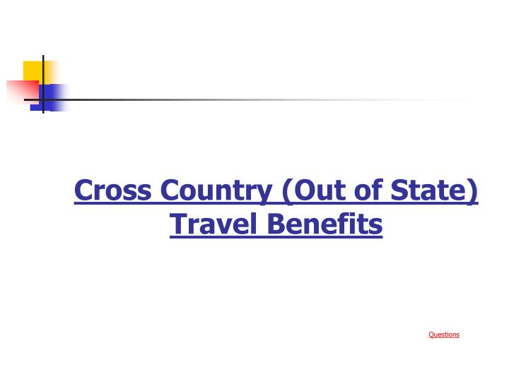 Cross Country (Out of State)