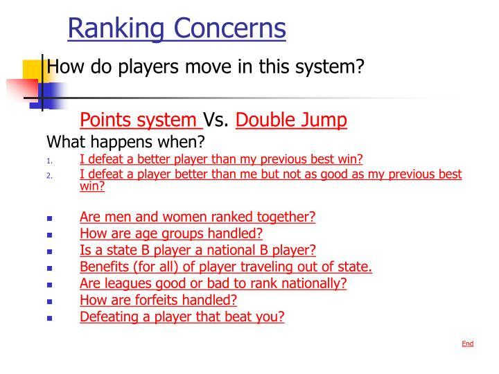 Ranking Concerns