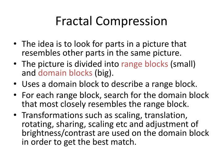 Fractal Compression