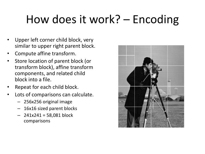 How does it work? – Encoding