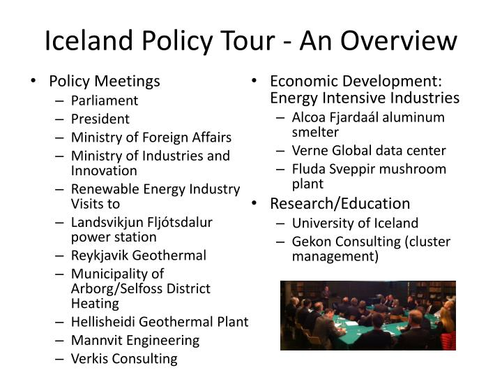 Iceland Policy Tour - An Overview