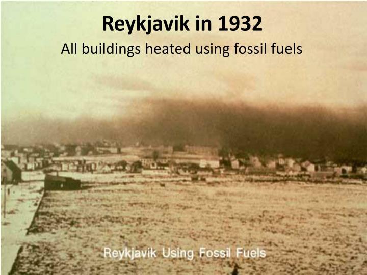 Reykjavik in 1932