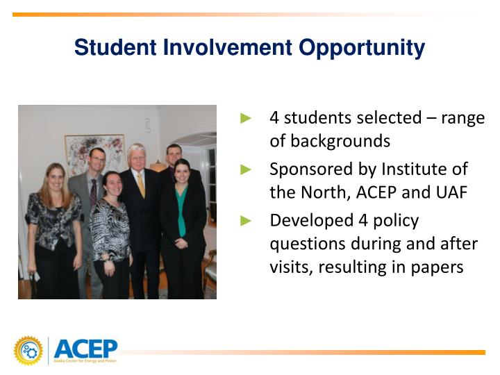 Student Involvement Opportunity