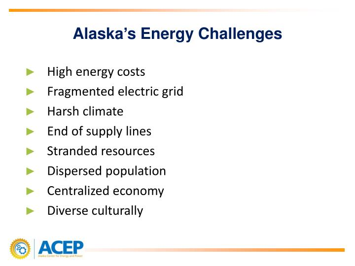Alaska's Energy Challenges