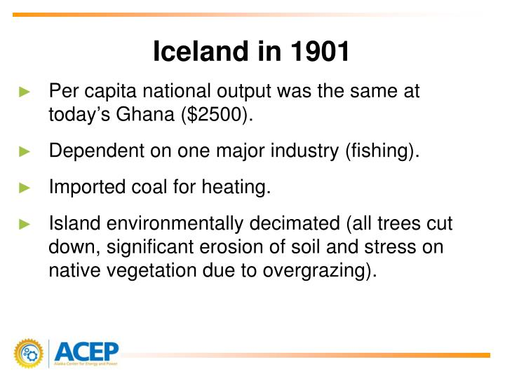 Iceland in 1901