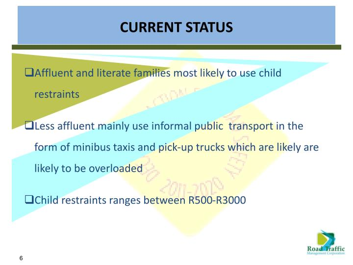 Affluent and literate families most likely to use child restraints