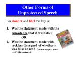 other forms of unprotected speech1
