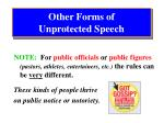 other forms of unprotected speech2