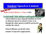 student speech is limited1