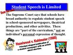 student speech is limited2