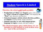 student speech is limited3