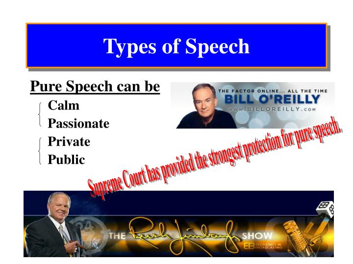 Types of speech