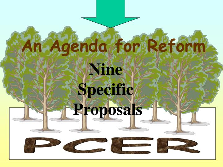 An Agenda for Reform