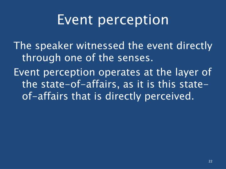 Event perception