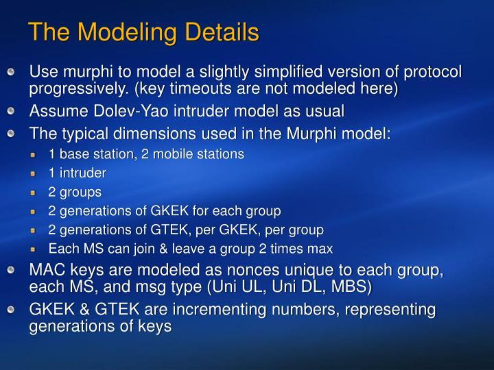 The Modeling Details
