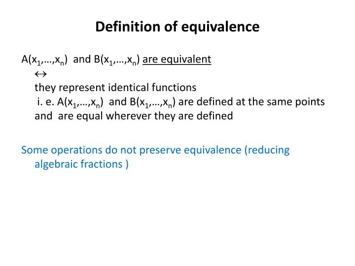Definition of equivalence