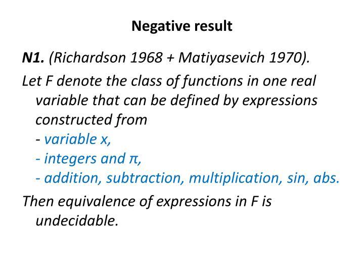 Negative result
