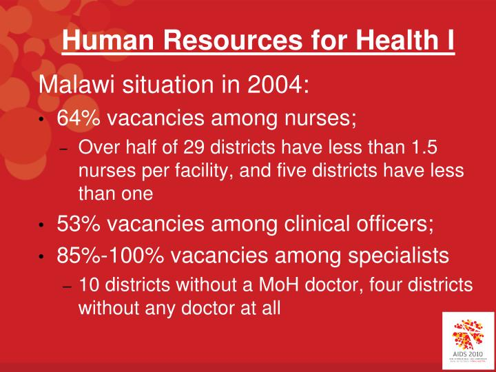 Human resources for health i