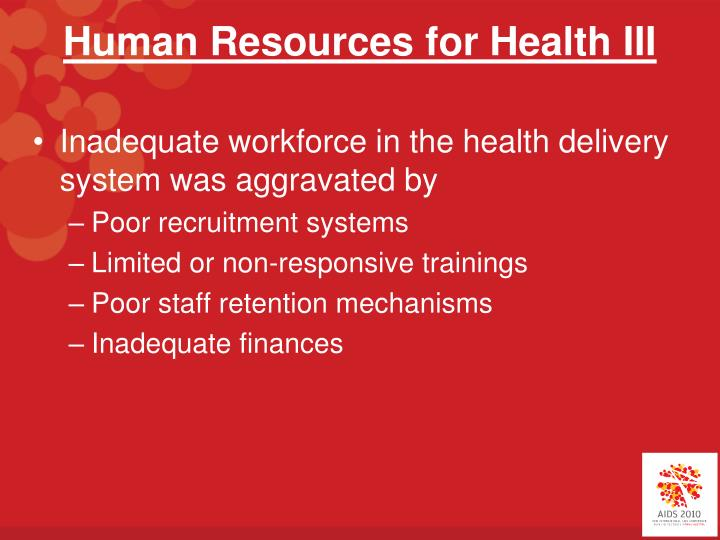 Human Resources for Health III