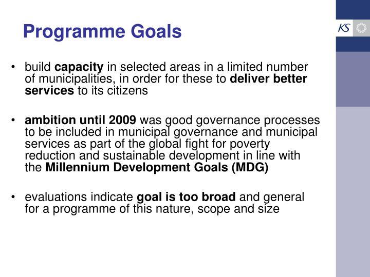 Programme Goals